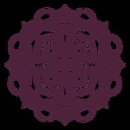 Purple mandala star-shape