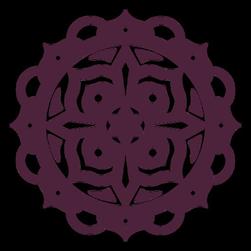 Mandala roxa em forma de estrela