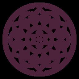 Mandala redonda en forma de estrella