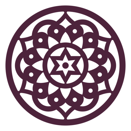 Round mandala star-shape Transparent PNG