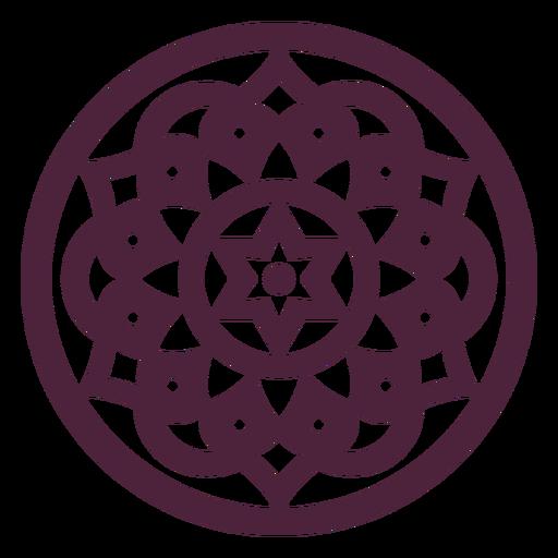Round mandala star-shape
