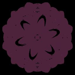 Flower-shape mandala cut-out