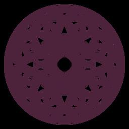 Mandala cut-out floral