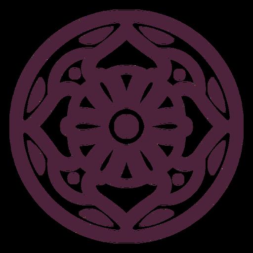Abstract mandala cut-out