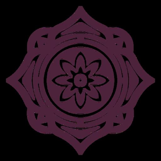 Mandala flower cut-out
