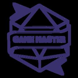 Insignia de dados de juego maestro rpg