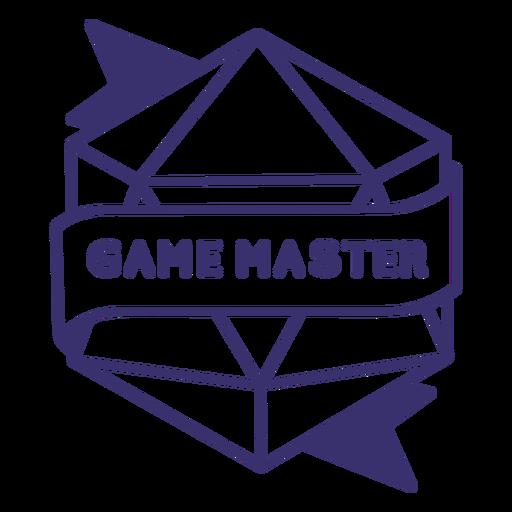 Insignia de dados de juego maestro rpg Transparent PNG