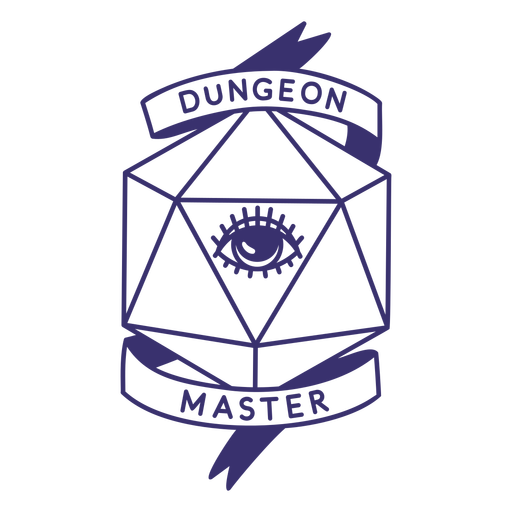 Dungeon master rpg dice badge Transparent PNG