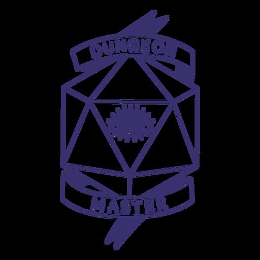 Insignia de dados de RPG de Dungeon Master