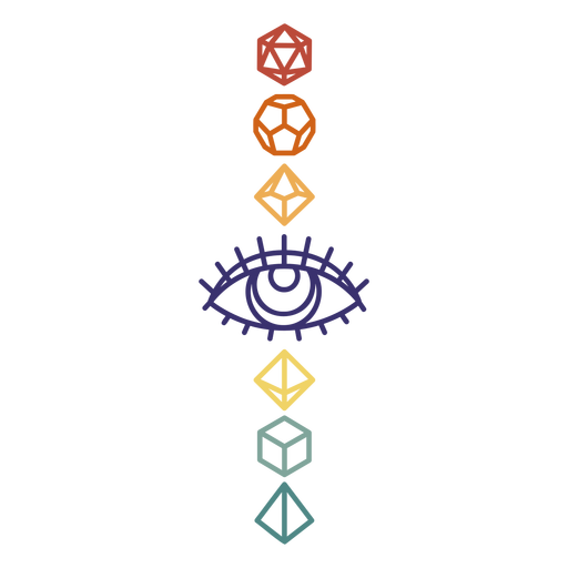 Polyhedral dice vertical stroke