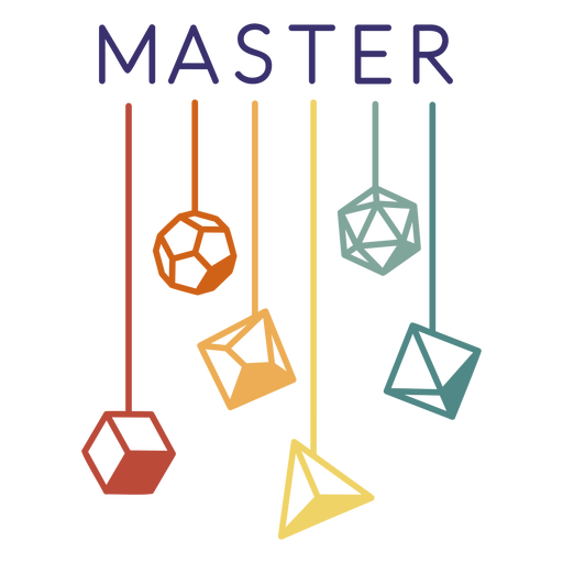 Master polyhedral dice stroke Transparent PNG