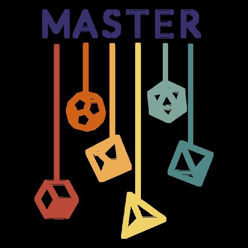 Master polyhedral dice stroke