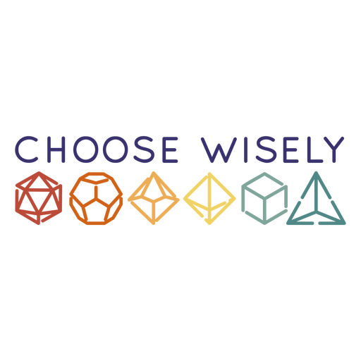 RPG dice quote stroke Transparent PNG