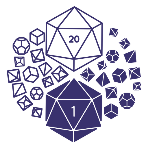Role playing dice composition Transparent PNG