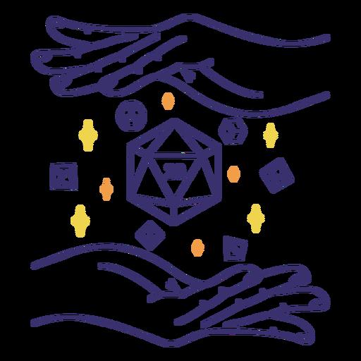Magic rpg dice stroke