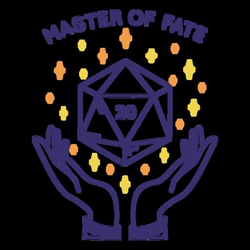 Magic rpg dice badge