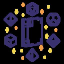 Libro mágico diseño de dados rpg