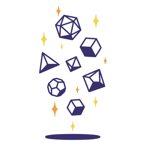 Sparkly rpg polyhedral dice Transparent PNG