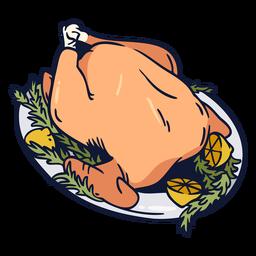 Turkey rosemary illustration