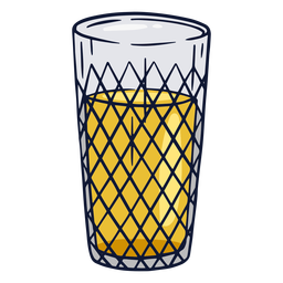 Apfelwein glass illustration