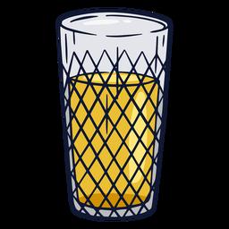 Apfelwein glass illustration