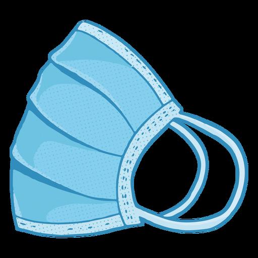 Ilustración de mascarilla lateral