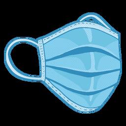 Disposable face mask illustration
