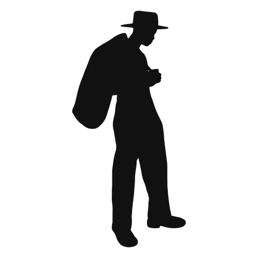 Farmer bag silhouette