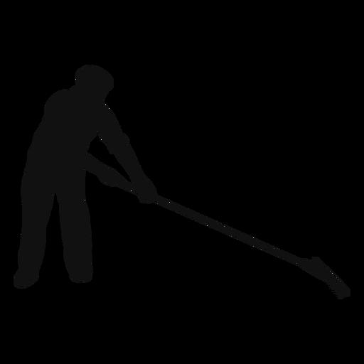 Farmer rake silhouette