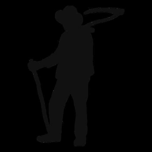 Farmer scythe silhouette