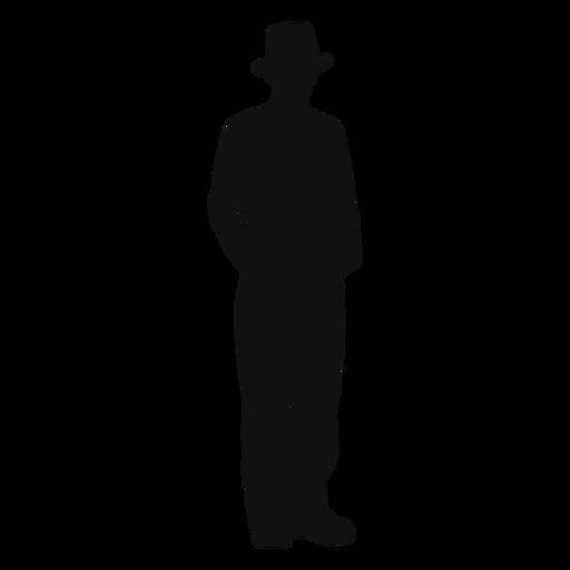 Farmer standing silhouette