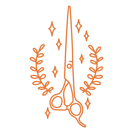 Hairdresser scissors stroke