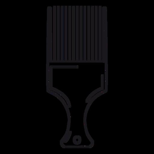 Pick comb hair stroke Transparent PNG