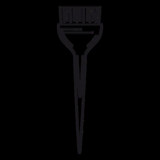 Hair dye tint brush stroke