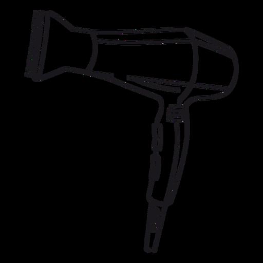 Hair dryer stroke