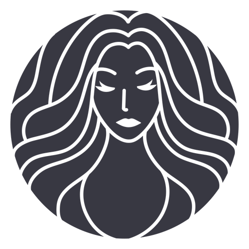 Waves hairstyle badge