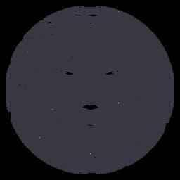 Distintivo de mulher de volume no cabelo