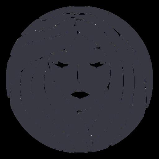 Volume hair woman badge