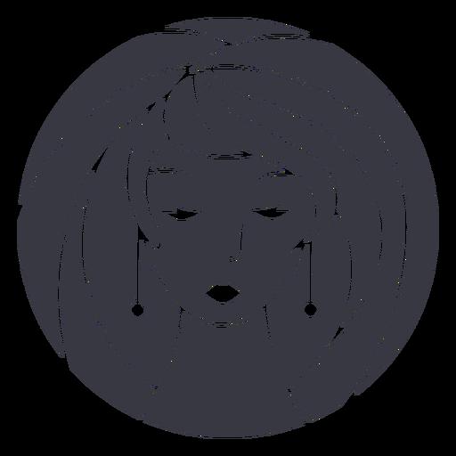 Earrings woman badge