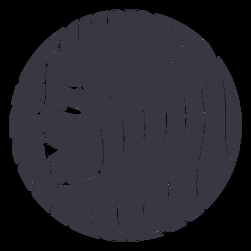 Profile hair woman badge