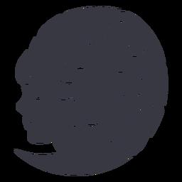 Crachá de mulher com flor penteado