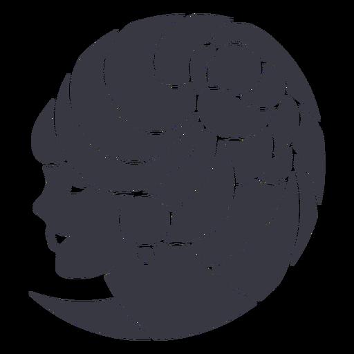 Insignia de mujer de flor de peinado