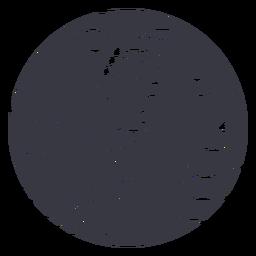 Distintivo de cabelo com rabo de cavalo alto