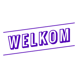 Welkom text badge banner