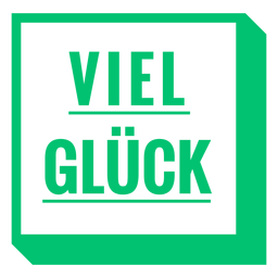 Viel glück square badge