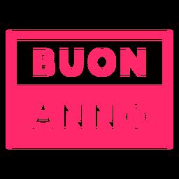 Buon anno badge
