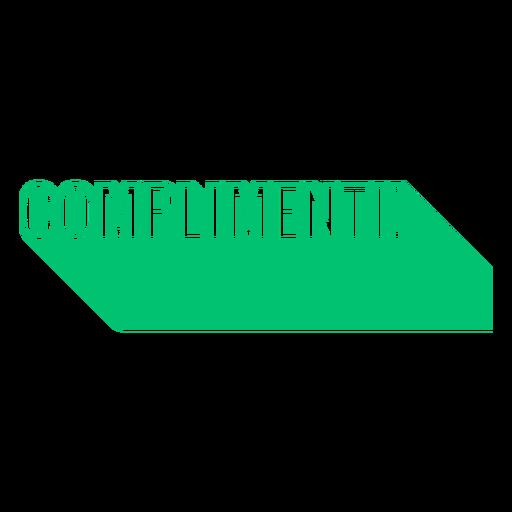 Complimenti badge