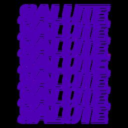 Salute italian badge