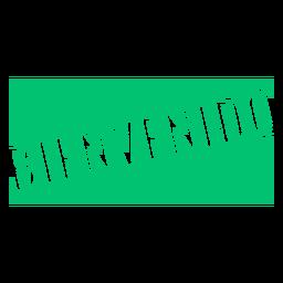 Bienvenido badge sign