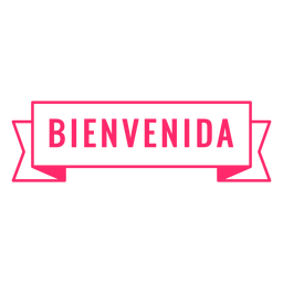 Bienvenida badge sign